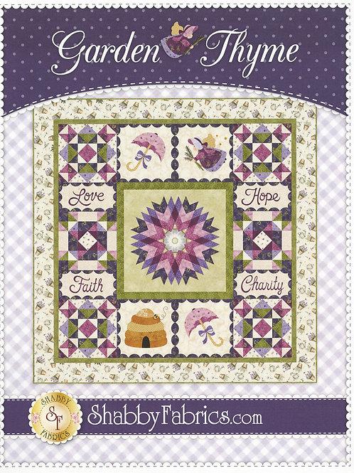 Garden Thyme Faith Hope Love Charity Quilt Pattern by Shabby Fabrics