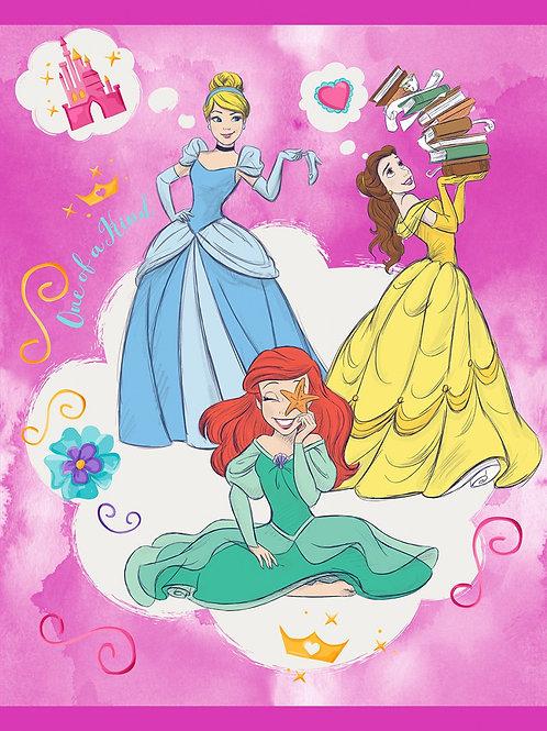 Disney Princesses Quilt Panel 100 Percent Cotton