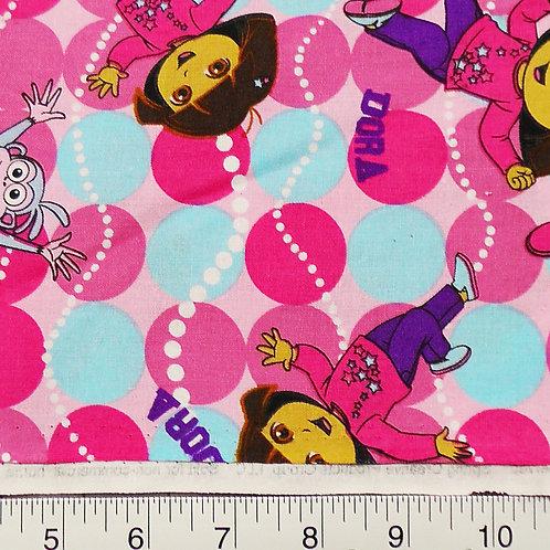 Dora The Explorer Print 100 percent cotton fabric