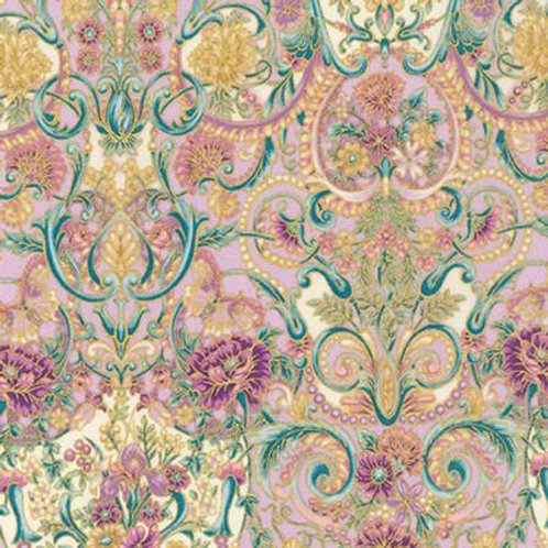 Quilting Sewing Cotton Fabric Floral Baroque Pattern