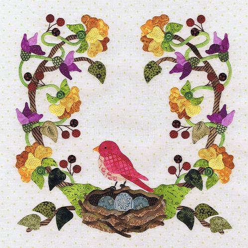 Baltimore Spring Block 3 Nesting Time Pattern by Pearl P. Pereira