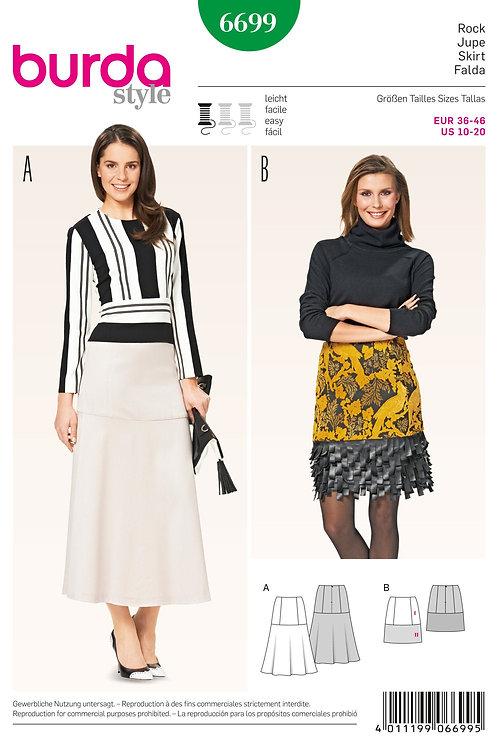 Burda Style Sewing Pattern 6699 Misses' Skirts