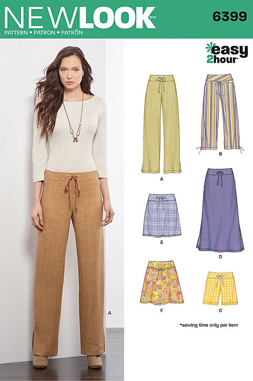 New Look Pattern 6399 Easy 2-Hour Skirts, Shorts and Pants Pattern OUT OF PRINT