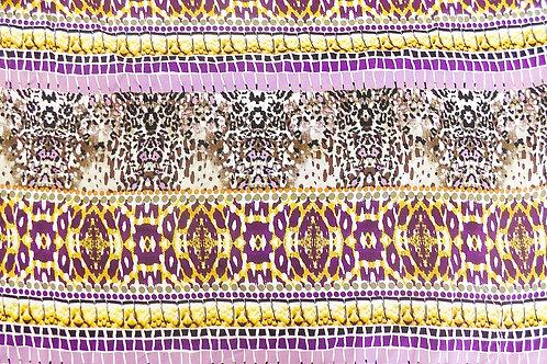 Tribal Print Rayon Challis Fabric