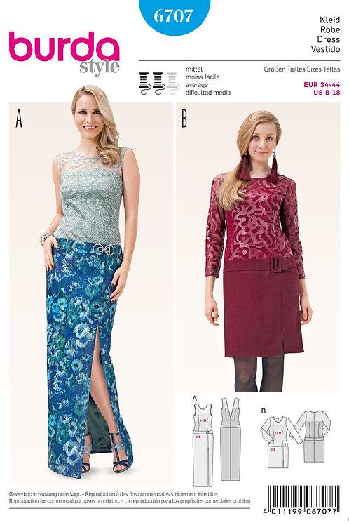 Burda Style Sewing Pattern 6707 Misses' Dresses