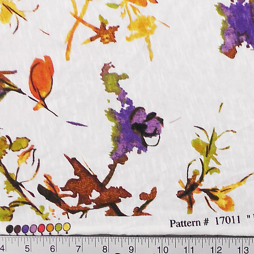 Sheer Knit Floral Fabric