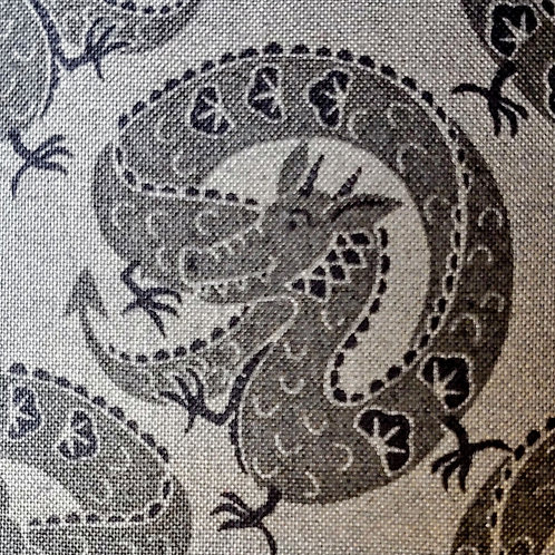 Quilting Sewing Cosplay Red Black Dragon Fabric