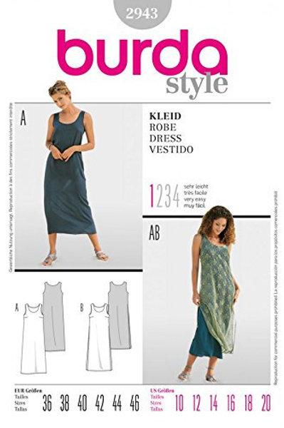 Burda Style Sewing Pattern 2943 Misses' Dresses
