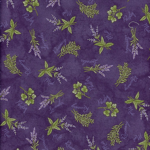 Quilting Sewing Cotton Fabric Floral Herb Pattern