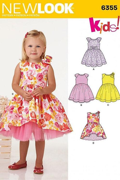 New Look Sewing Pattern 6355 Girls Dress Pattern