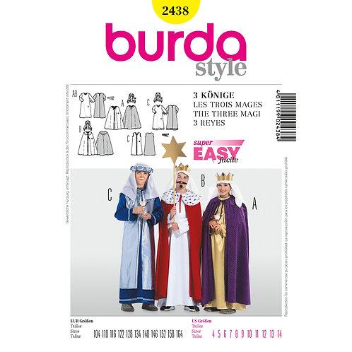 Burda Sewing Pattern 2438 Boys We Three Kings Christmas Pageant Costumes