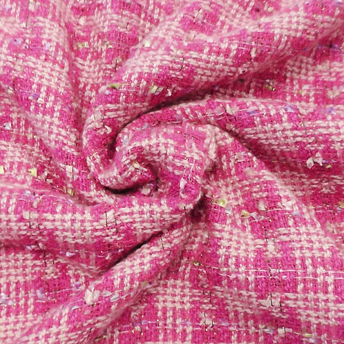 Fuchsia Tweed Fabric with Pastels