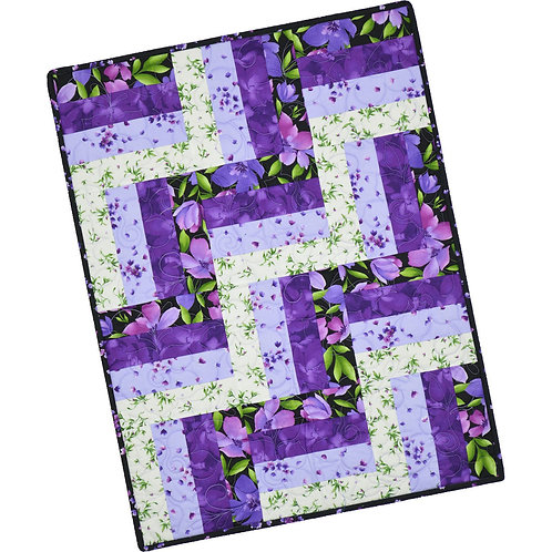 Maywood Studios Rail Fence Quilt Kit Ultra Violet by Marti Mitchell