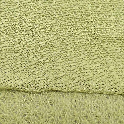 Ultra Soft Crochet Look Knit Fabric  Olive Green