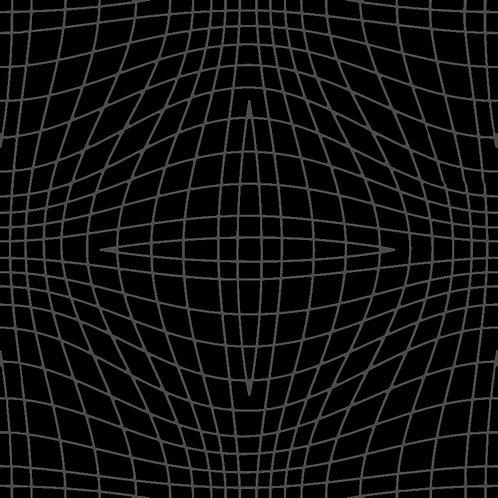 Cotton Fabric Geometric Grey on Black Galaxy Print