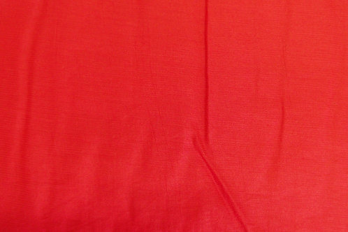 Ruby Red Polyester Blouse or Dress Fabric