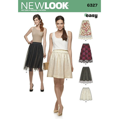 New Look Pattern 6327 Skirt Pattern With Four Variations OUT OF PRINT