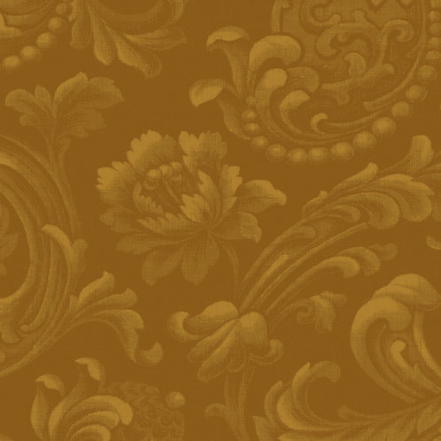 Gold Metallic Floral Cotton Sewing Quilting Fabric
