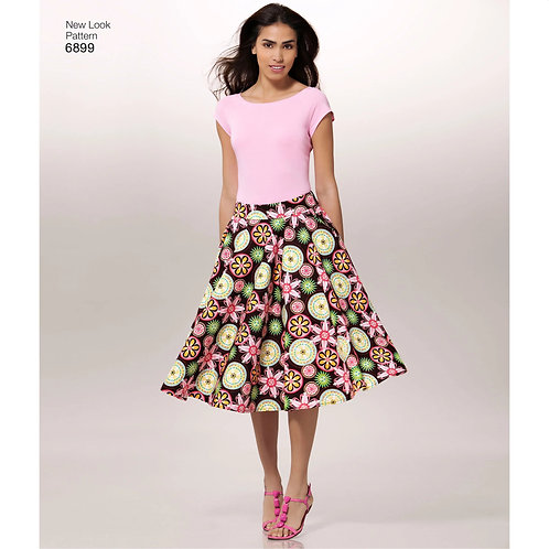 New Look Pattern 6899 EASY  Knit Tops and Skirts Pattern