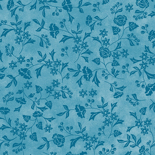 Baltimore Spring Quilting Sewing Cotton Fabric Blue Floral