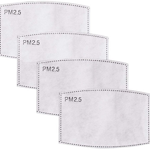 12 PCS PM2.5 Activated Carbon Filter. Mask Filters Breathing Insert