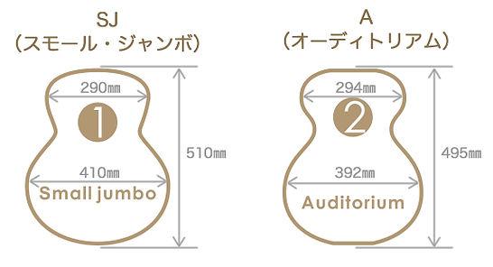 アコギボディサイズ比較