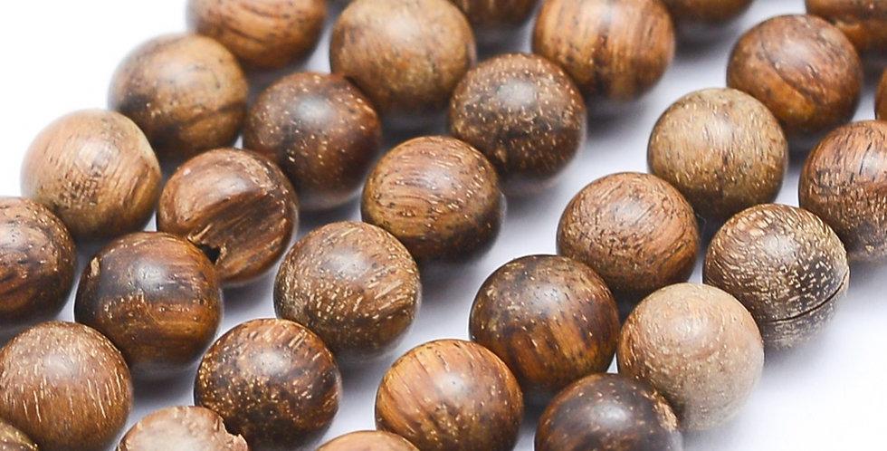 8 mm Natural Sandalwood