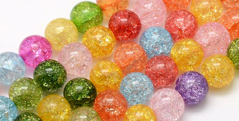 10 mm Synthetic Crackle Quartz