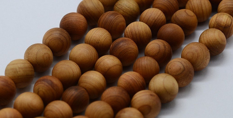 6 mm Natural Wood Beads, Raw