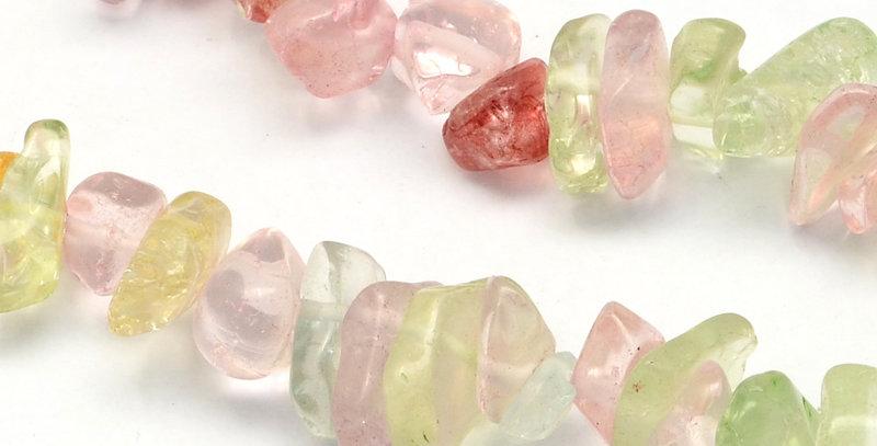 CLEARANCE - Natural Crackle Quartz Stone Chips, Large