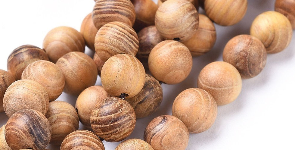 6 mm Natural Wood Beads, Burlywood