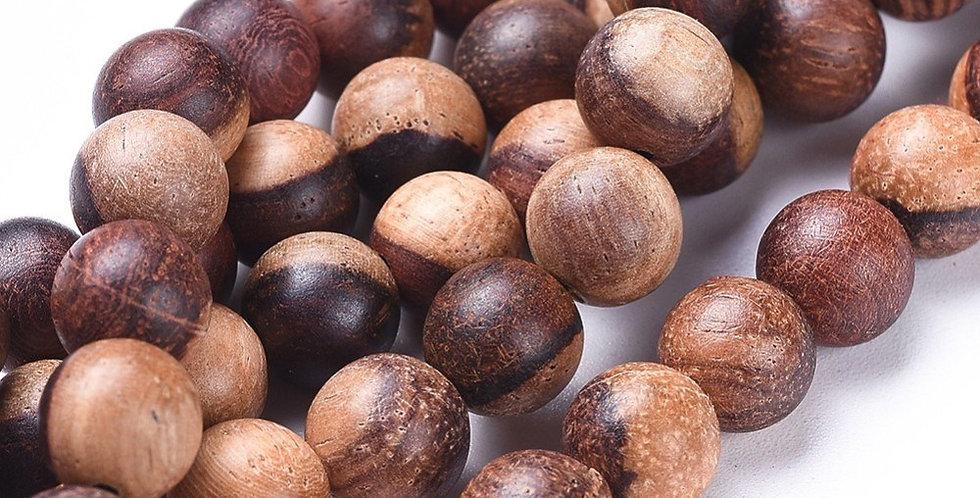 6 mm Natural Wood Beads, SandyBrown