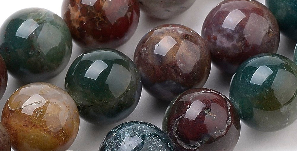 10 mm Natural Indian Agate