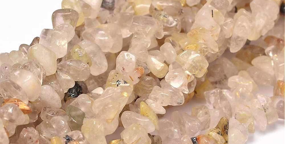 CLEARANCE - Natural Chip Gold Rutilated Quartz - Small Chips