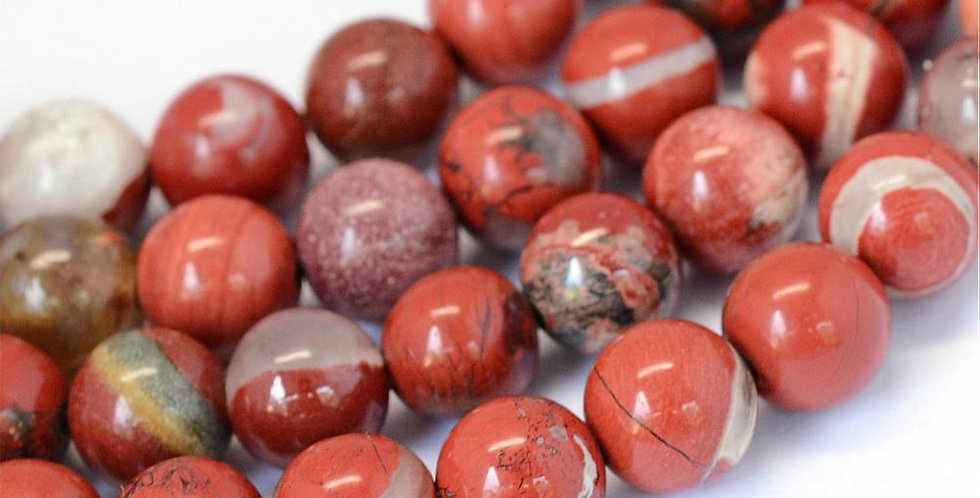 6 mm Natural Red Jasper