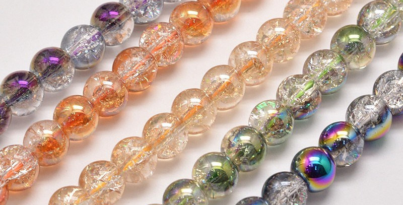 6 mm Electroplate Synthetic Crackle Quartz