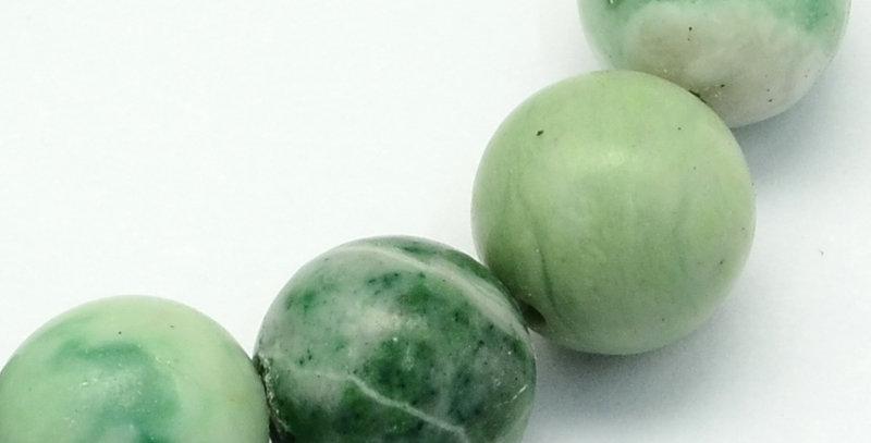 8 mm Natural Qinghai Jade
