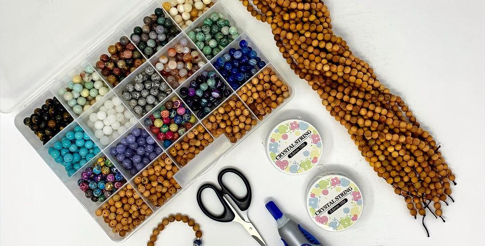 100 Pack DIY Bracelet - Wooden Beads