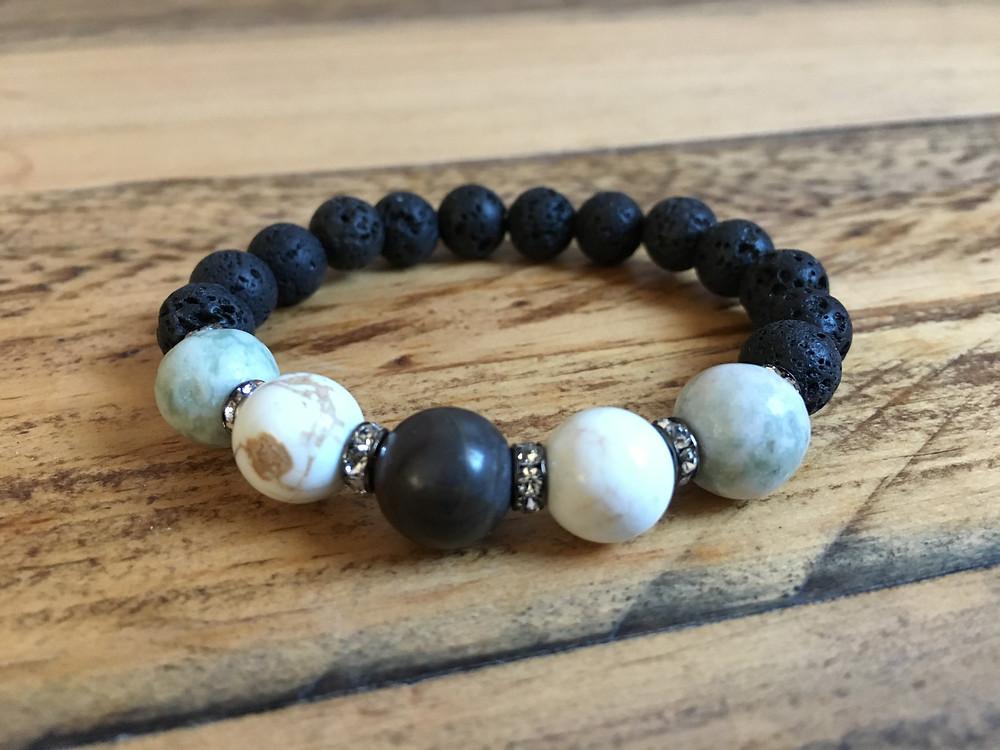 Lava beads for Grounding