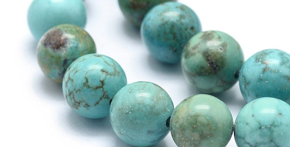 10 mm Natural Turquoise - Dyed