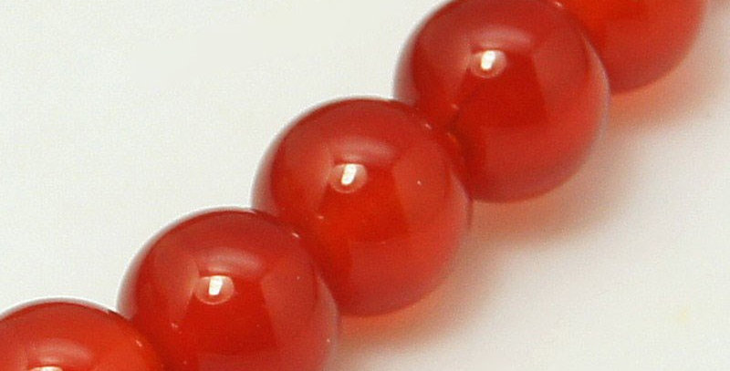 6 mm Natural Red Agate, Dyed