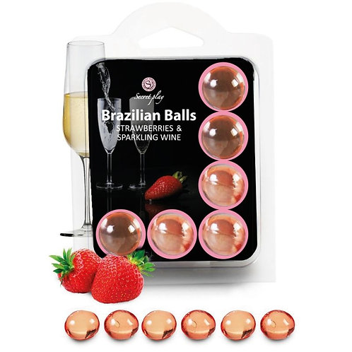 BRAZILIAN BALLS STRAWBERRY AND SPARKLING WINE