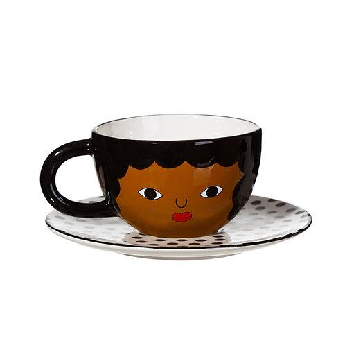 chávena chá ou café com cara madame c j walker vanilla vice