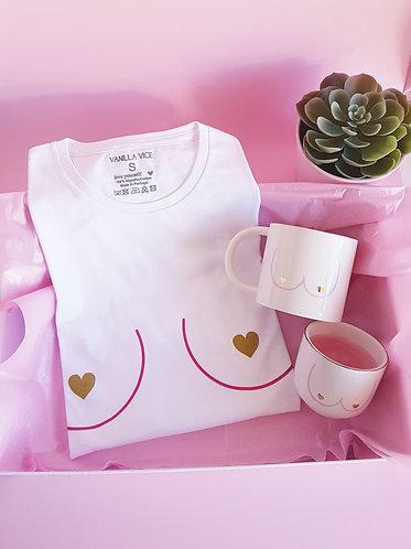 t-shirt caneca vela com maminhas boobies vanilla vice