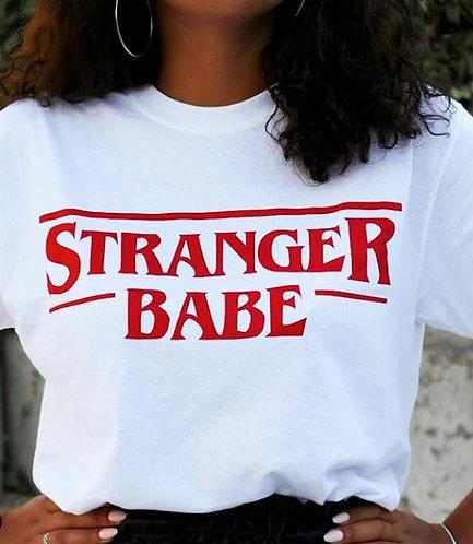 STRANGER BABE - White T-Shirt