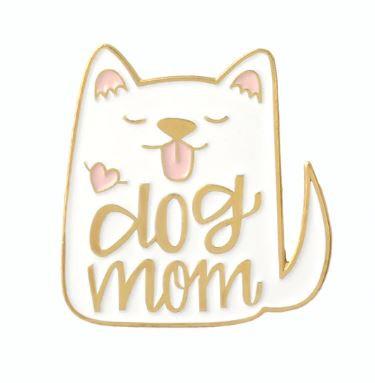 DOG MOM - WHITE PIN