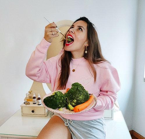 camisola-sweatshirt-veggie-babe-vegetariana-rosa-vanilla-vice