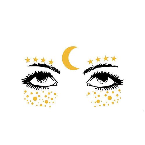 Moon & Stars - Tatuagem Temporária