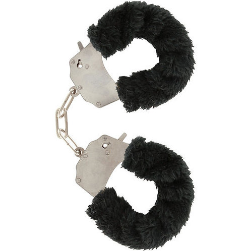 BLACK FURRY FUN CUFFS - ALGEMAS