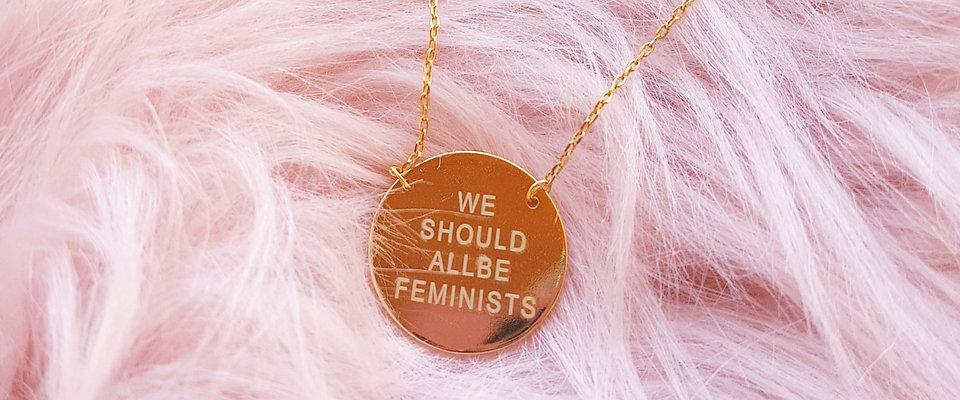 WE ARE FEMINISTS - FIO AÇO INOXIDÁVEL